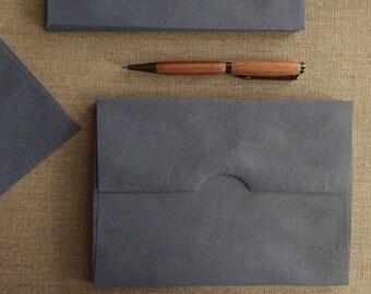 SALE!  Kraft Envelopes - Blue tinted Brown Kraft - Size A7