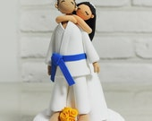 Jiu-Jitsu custom wedding cake topper