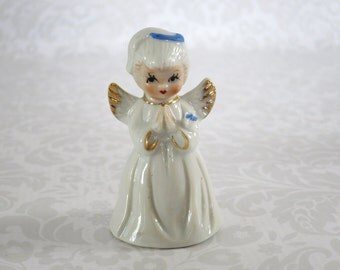 Vintage Praying Angel Figurine, Porcelain Praying Angel Statuette, Love Prayer Angel Gift, Stocking Stuffer Gift Ideas