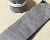 Grey & Black Solid Crossfit Wrist Wraps