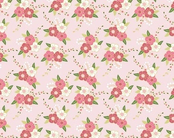 Wonderland Floral in Pink Sparkle Metallic  (c5181)  - Riley Blake Designs Fabric - By the Yard