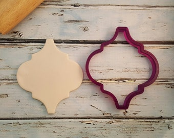Arabesque Moroccan Tile Plaque Cookie Cutter or Fondant Cutter and Clay Cutter