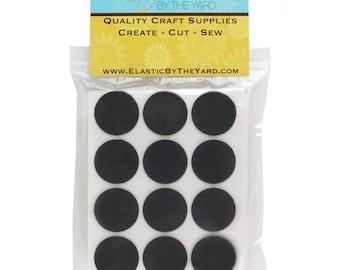 "1 1/2"" Black Adhesive Felt Circles 48 Dots"