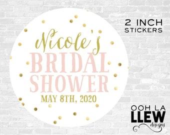 Custom Bridal Shower Stickers