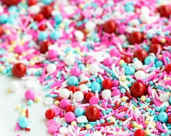 CHERRY ON TOP Bulk Sprinkle Medley, Retro, Pink and Turquoise, Red, Sprinkle Medley, Canadian Sprinkles