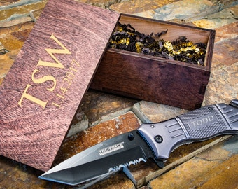 Personalized Knives- Tactical Knife, Gifts for Him, Engraved Knife,  Groomsmen Knives, Groomsmen Gifts, Boyfriend Gifts, Camping Knife