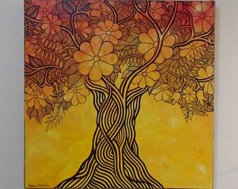 "Original Acylic Painting, ""Orange Tree"" 2012"