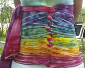 Extra Large - Rainbow - Ice Dyed Belly Binding Wrap -Ready to Ship!