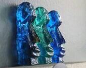 Set of Three Blue Mini Easter Island Heads/Terrarium Decor