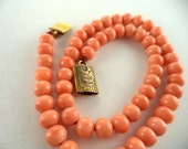 Antique Quality Genuine Coral Bead Child's Necklace Victorian Children's Jewelry
