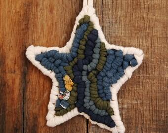 Star Ornament, Locker Hook, Fabric Ornament, Christmas Ornament, Home Decor
