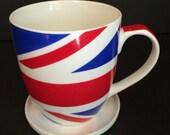 Union Jack Great Britain England Flag Coffee Tea Mug Lid Coaster