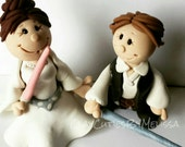 Star Wars Wedding Cake Topper Hans Solo Princess Leia Wedding Bride and Groom Mr and Mrs Personalized Wedding Cake Topper Star Wars Cake