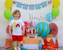 Circus birthday Boys shirt bodysuit - First Birthday circus - Boy circus birthday - Carnival
