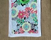Towel Bib Flower XL toddler bib