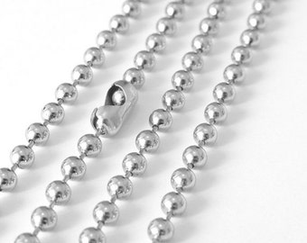 SALE 30 Feet Silver Large Ball Chain, 4mm, Necklace Bracelet Unfinished Link, A37-02