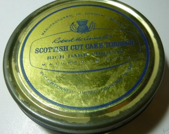 Robert McConnell's Scottish Cut Cake Tobacco Vintage Tobacco Tin, C1970s (empty)