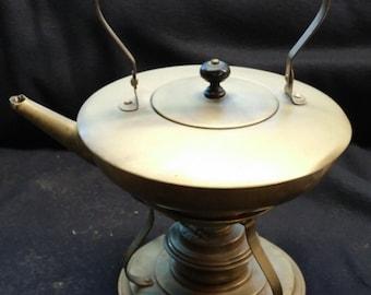 Brass Teapot w/kerosene heater