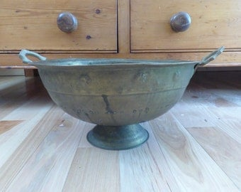Very Large Copper Colander . Very Old . Very Beautiful