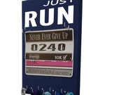 Race bibs display - running Medals and bibs holder - medals and bibs hanger JUST RUN race bibs