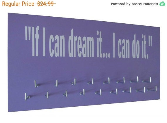 inspirational quotes / Running medals display