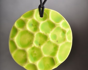 Ceramic  Jewelry Pendant Necklace by Symmetrical Pottery