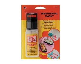 Mod Podge Dimensional Magic. Scrapbooking, card making, mixed Media, Craft Supplies