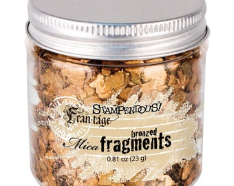 Stampendous Mica fragments, Bronzed, Scrapbooking, Card making, Embellishments, Mixed Media