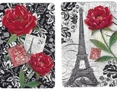 FROM PARIS, with LOVE (2) Single Swap Playing Cards Paper Ephemera Scrapbook Supplies