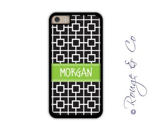 Monogram iPhone 6/6S * 6/6S PLUS * 5/5S * 5C personalized squares phone case in custom colors with monogram or name