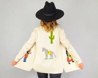 WINTER SALE RARE • Tijuana Appliquéd Jacket