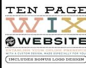10 page CUSTOM WIX WEBSITE Design Package - Ten Page Custom Website Design - Wix WebDesign Package - Custom WebSite Package