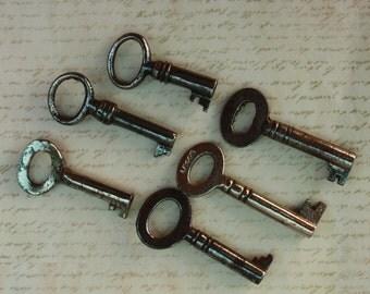 Skeleton Keys Small Vintage Cabinet Tea Chest Size