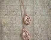 Rose Gold Druzy Earrings, Threader Earrings, Druzy Earrings, Druzy Quartz Jewelry, Rose Gold Threaders, Rose Gold Earrings, Chain Earrings