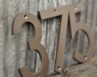 Oil Rubbed Bronze - Powder Coated Aluminum Numbers with matching screws
