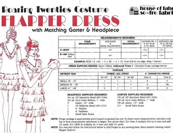 Roaring Twenties 20s Costume Flapper Dress Sewing Pattern Bust 28 to 48