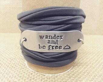 Motivational/Customized Soft Wrap Bracelet