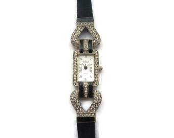 Vintage Art Deco Style Quartz Watch, Bob Mackie