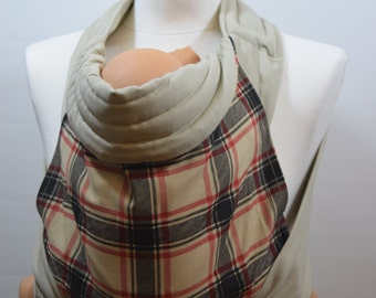 MEI TAI Baby Carrier / Sling  / Reversible / Tartan in straight cut model / Handmade / Made in UK