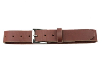 Leather Belt - Toffee - Made in the U.S.A. - TF-BLT-PLNP1