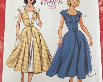 Butterick 6211 Sewing Pattern for 1950s dress - size 6-14