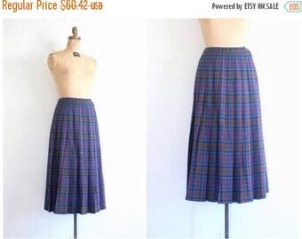 20% SALE vintage Pendleton wool plaid skirt - pleated / Mulberry Wine - 80s preppy / 1980s