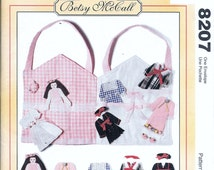 McCall's 8207 Vintage Betsy McCall Flat Fabric Doll + Clothes + Carrying Case Sewing Pattern UNCUT