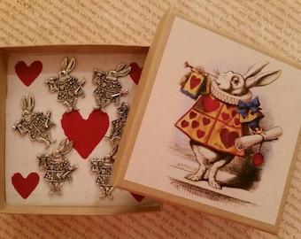 White Rabbit Pushpins,Book character thumbtacks