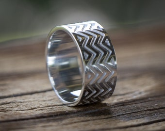 Zigzag ring- sterling silver band