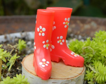 Miniature Wellington Boots Fairy Garden Boots Miniature Wellies - Miniature rain Boots -Fairy Accessories - Fairy Garden - Terrarium