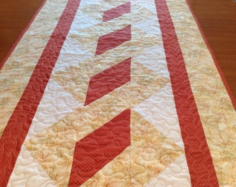 Fall table runner, Autumn table runner, quilted autumn fall table runner