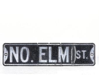 Vintage Street Sign, Vintage Sign, Black Street Sign, Elm Street Sign, Old Street Sign, Traffic Sign, Industrial Decor, Sign