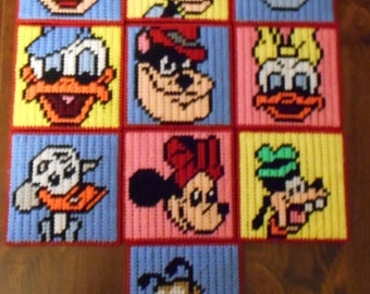 Mickey Mouse Club House Match Game Plastic Canvas Pattern