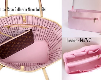 Rose Purse insert to match rose ballerine lining Louis Vuitton Neverfull GM - Bag organizer insert